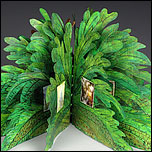 fern shaped book made of copper and paper by judith hoffman