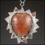 You are the star of my heart, copper and sterling silver locket necklace by Judith Hoffman